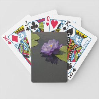 Purple Lotus Waterlily Playing Cards