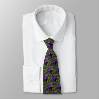 Purple Lotus Waterlily Tie