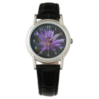 Purple Lotus Waterlily Watch