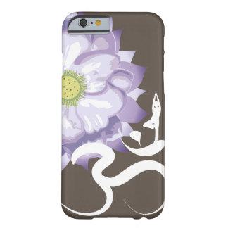 Purple Lotus Yoga Silhouette White Om iPhone Case