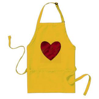 Purple Love Heart Standard Apron