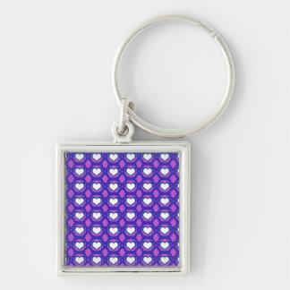 Purple Love Hearts Budget Keychain
