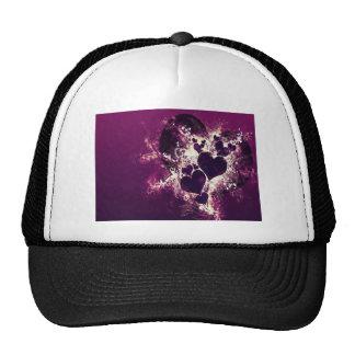 Purple Love Hearts Hats