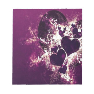 Purple Love Hearts Notepads