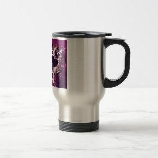 Purple Love Hearts Travel Mug