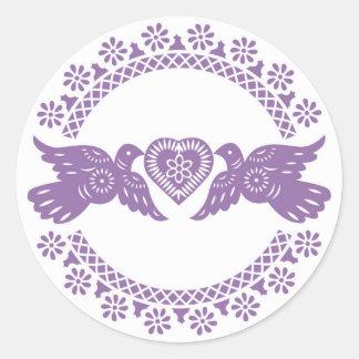 Purple Lovebirds Envelope Seal