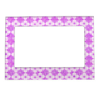 Purple lovely  flowers trendy frame