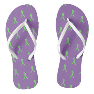 Purple Lyme Disease Awareness Sandals
