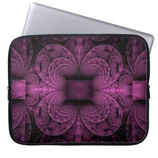 Purple Magenta Geometrical Design, Laptop Sleeve