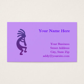 Purple Magic Kokopelli Business Card