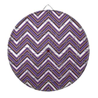 Purple Majesty Chevrons Dart Board