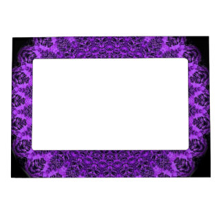 Purple Mandala Art-Magnetic Frame by SQ Streater