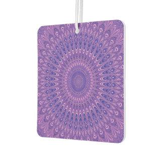 Purple mandala car air freshener