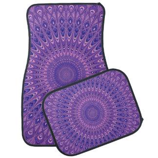 Purple mandala car mat