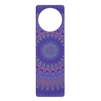 Purple mandala door hanger