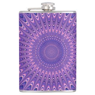 Purple mandala hip flask