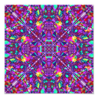 Purple Mandala Hippie Pattern Photo Art