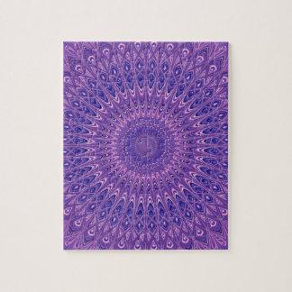 Purple mandala jigsaw puzzle