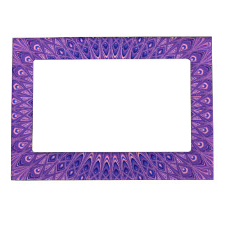 Purple mandala magnetic frame