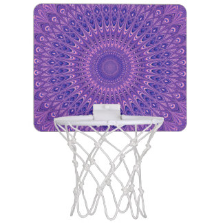 Purple mandala mini basketball hoop