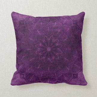 Purple Mandala Mystical Throw Pillow