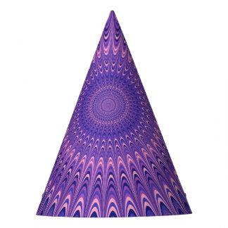 Purple mandala party hat