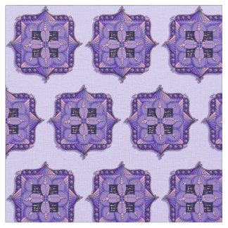 Purple Mandala Patterned Fabric