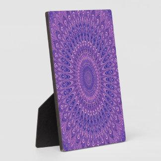 Purple mandala plaque