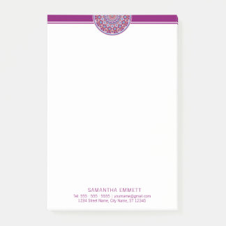 Purple Mandala Professional Modern Post-it® Notes