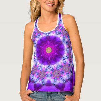 Purple Mandala SeaAngeL12 Yoga Wear Singlet