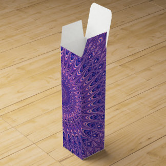 Purple mandala wine box