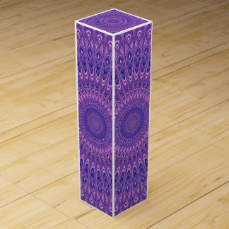Purple mandala wine gift box
