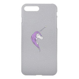 Purple Mane White Unicorn With Star Horn iPhone 7 Plus Case