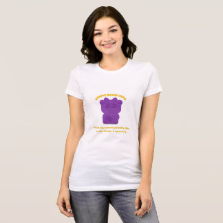 Purple Maneki Neko Both Paws NEW T-Shirt