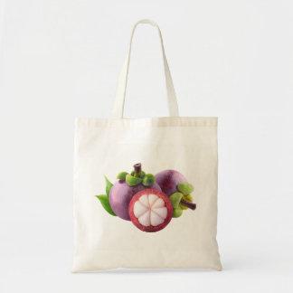 Purple mangosteens tote bag