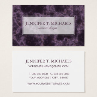 Purple Marble Texture Business Card