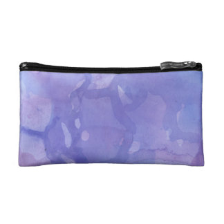 Purple Marble Watercolour Cosmetic Bag
