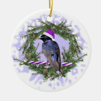 Purple Martin Holiday Ceramic Ornament