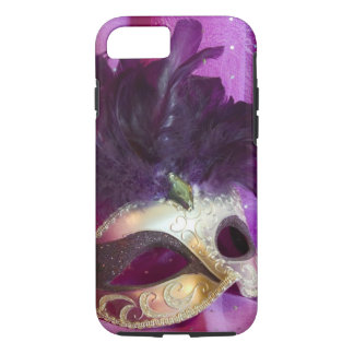 Purple Masquerade Mask iPhone 8/7 Case