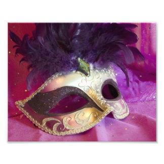 Purple Masquerade Mask Photographic Print