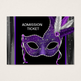 Purple Masquerade Party Admission Tickets