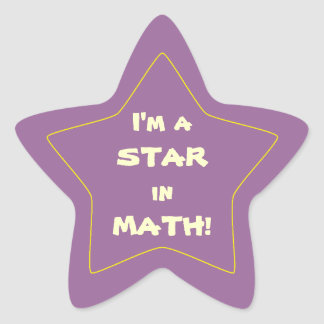Purple Math Student Star Star Sticker
