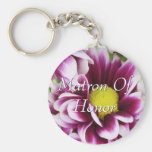 Purple Matron Of Honour Bouquet Key Chain