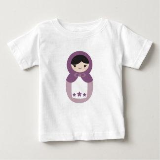 Purple Matryoshka Doll Baby T-Shirt