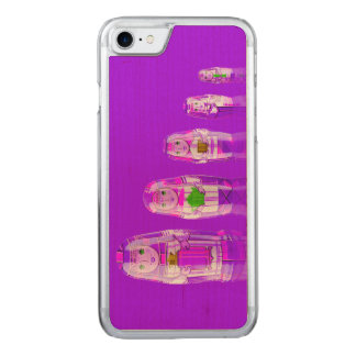 Purple Matryoshka Russian Dolls iPhone 6 Slim Carved iPhone 7 Case