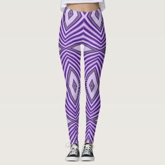 Purple Maze Leggings