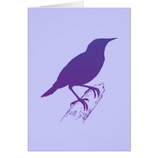 Purple Meadow Lark Card