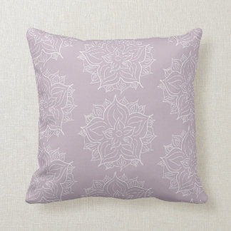 Purple Medallion Throw Pillow
