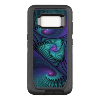 Purple meets Turquoise modern abstract Fractal Art OtterBox Defender Samsung Galaxy S8 Case