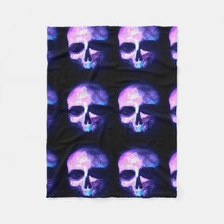 Purple Memento Mori Skull Blanket